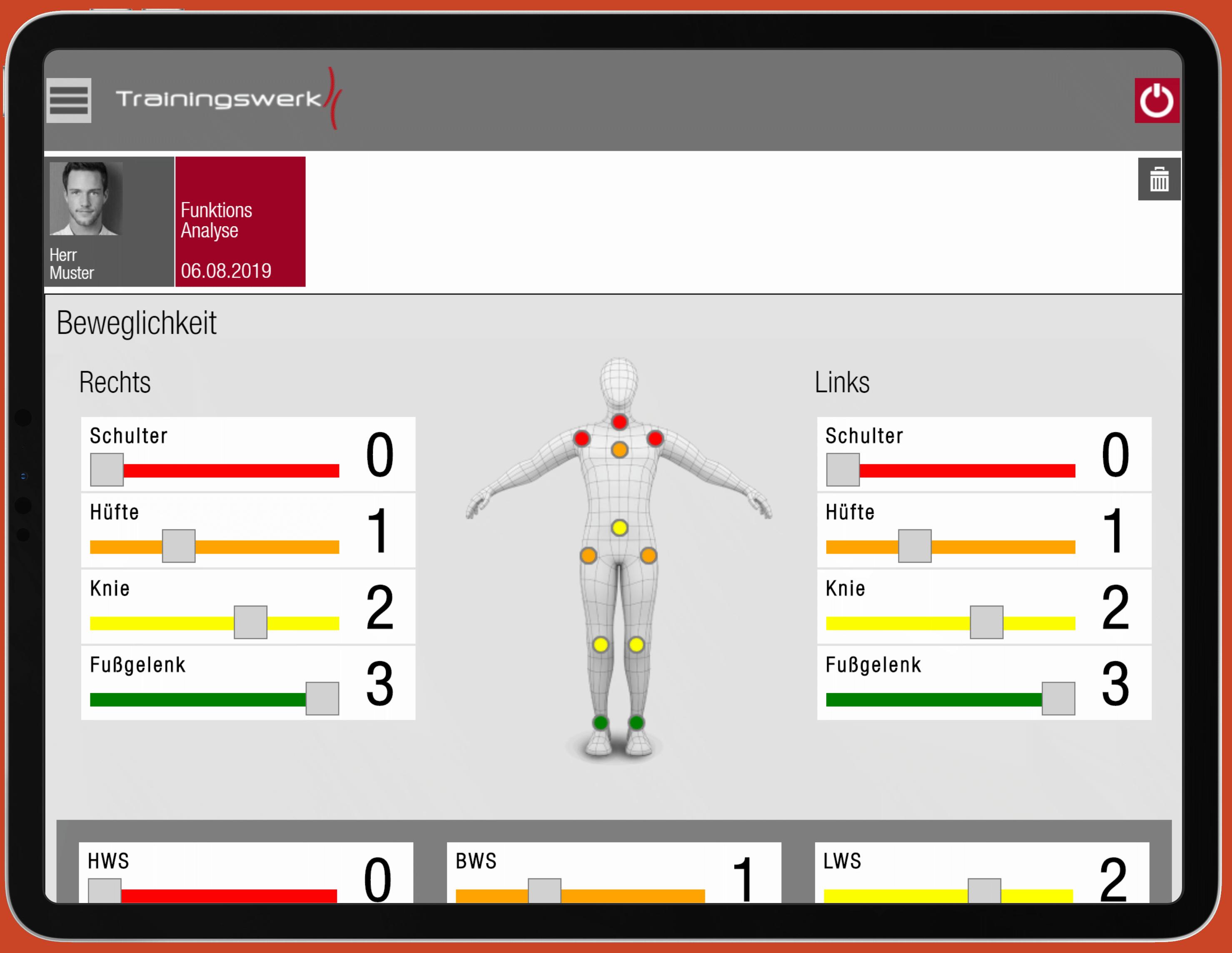Trainingswerk App Beweglichkeit